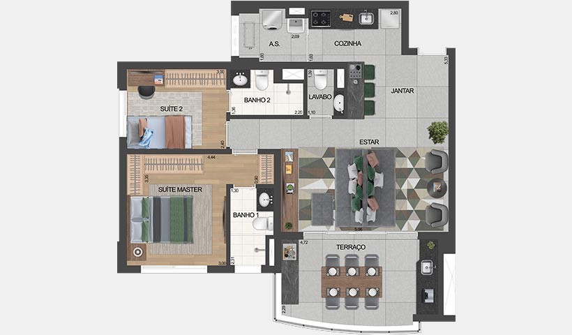 Planta 81 m²