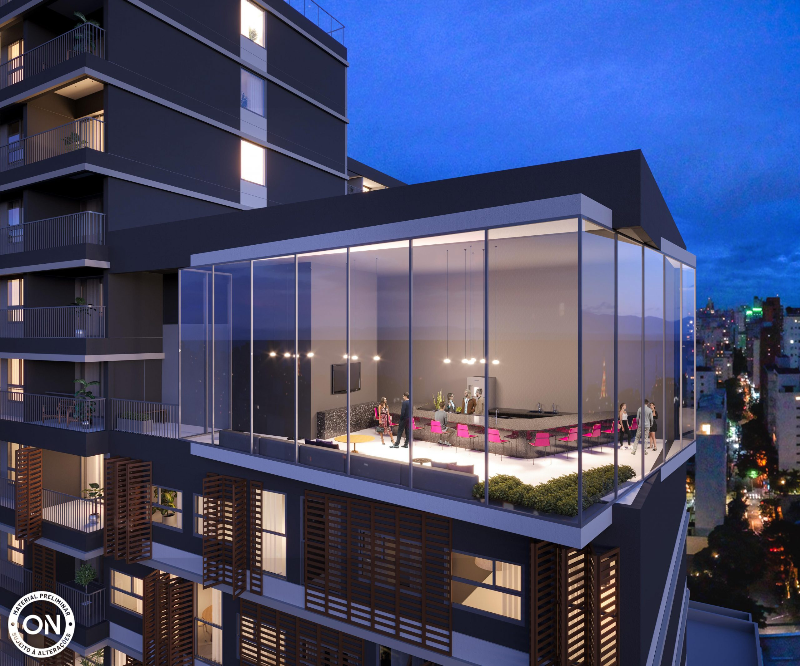 Studio Residencial Garden On Augusta – 27 m²